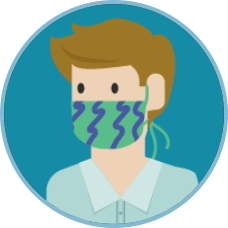 Cover your mouth and nose with a cloth when around others